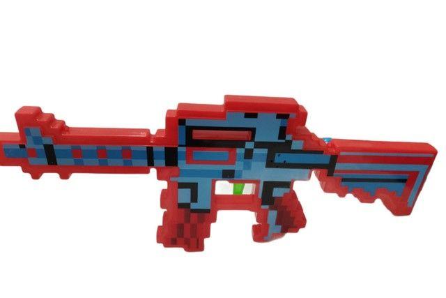 Arma do Minecraft laser som e música muito top. - Foto 4