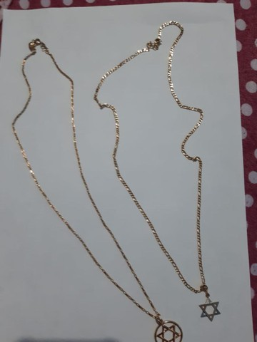 Vendo cordão c/ pingente e pulseira romanel