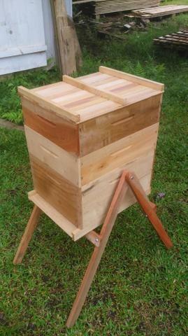 Caixa de abelha completa ninho +2 melgueiras colméia apicultura