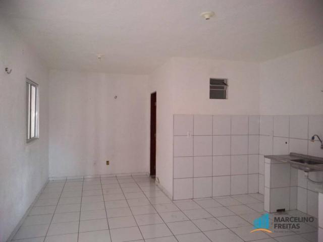 Apartamento com 1 dormitório para alugar, 33 m² por r$ 409,00/mês - barra do ceará - forta - Foto 4