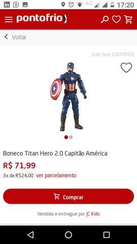 Boneco Capitão América