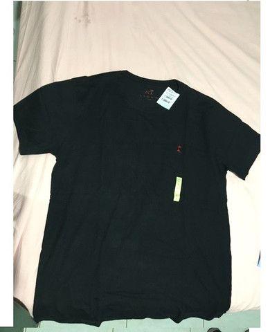 Camiseta preta lisa AD Life Style Nova 100% algodão - Foto 4