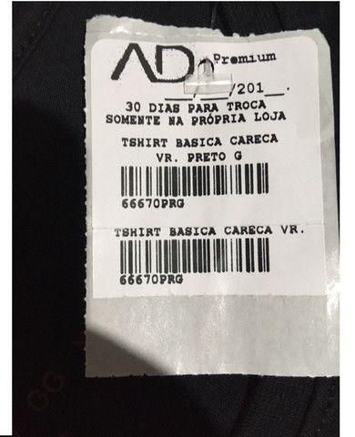 Camiseta preta lisa AD Life Style Nova 100% algodão - Foto 6