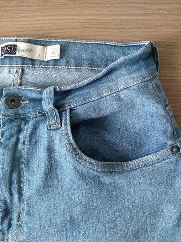 Calça Jeans Azul - Tam 40 (Veste 38) - Foto 2