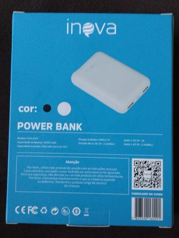 Carregador Portátil  Power Bank 12.000 mha - Foto 2