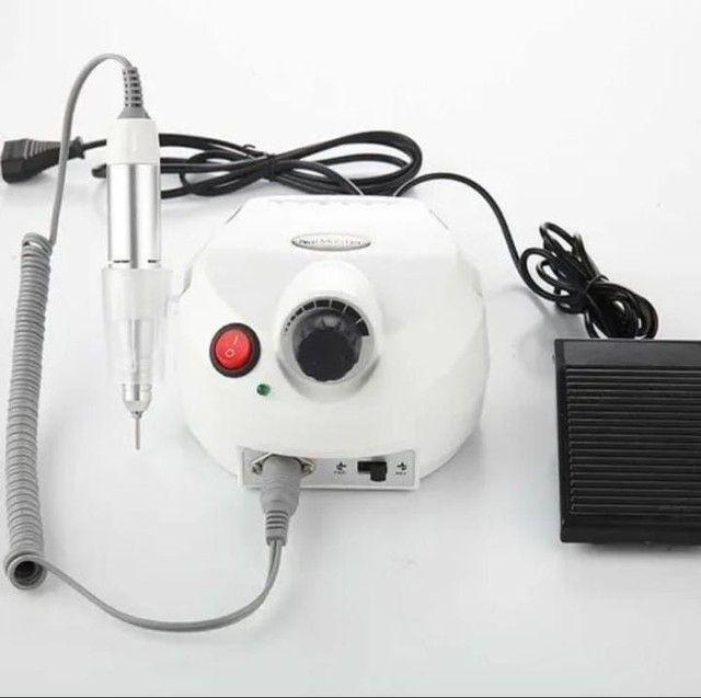 Lixa Eletrica Porquinho Motor Unhas Acrigel Bivolt 30000 Rpm - Foto 3