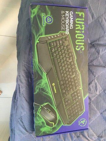 Vendo teclado e mouse GAMING KEYBOARD - NWAY - novo - com nota fiscal