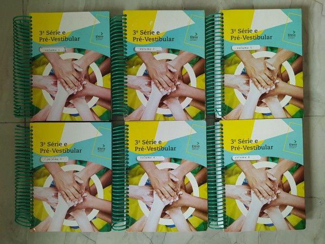 Livros Eleva conjunto de 06 volumes (3° Série e Pré-Vestibular)