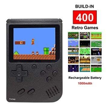 Mini Game Boy retro Portátil 400 Jogos com saida rca - Foto 2