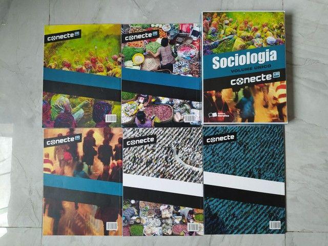 Conjunto contendo 05 livros de Sociologia volume único (Conecte)  - Foto 2
