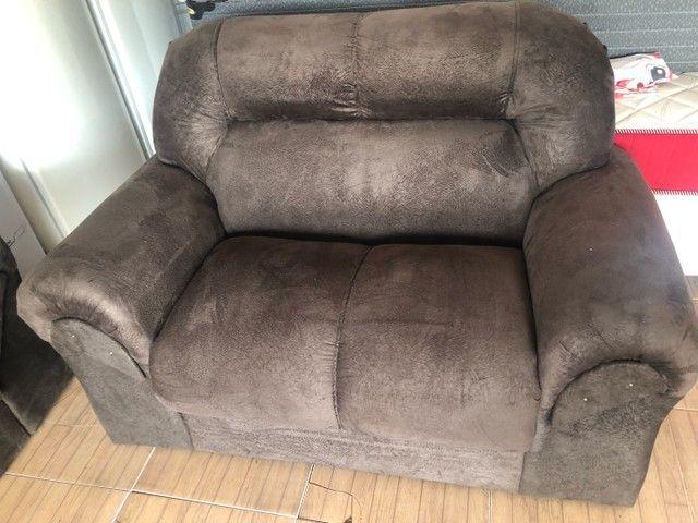 Sofá em camurça novo - Foto 2