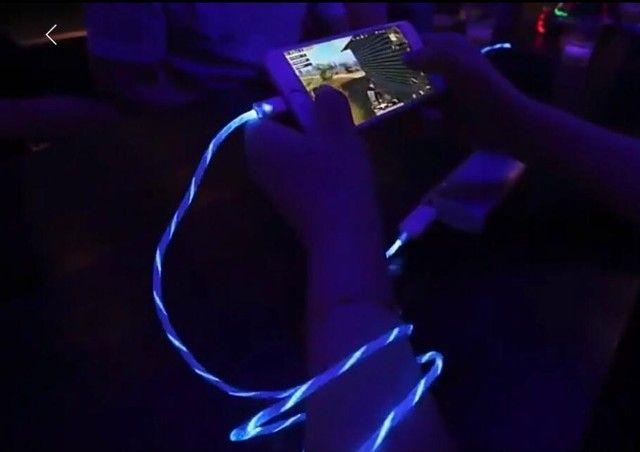 Cabo carregador magnético led iPhone / sansung / lg / motorola