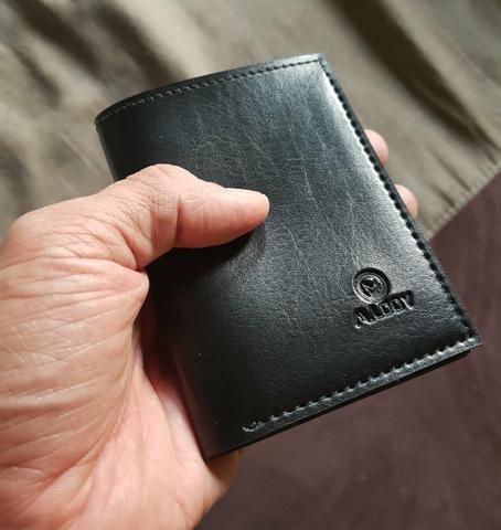 Carteira executiva M.LOOY em couro legítimo porta cartão!