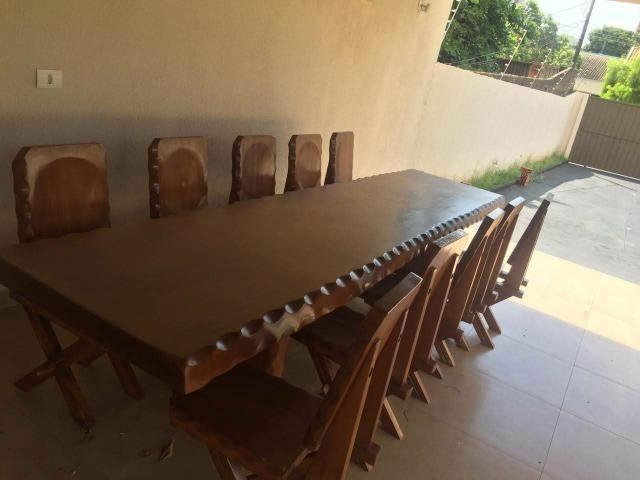 Mesa de madeira maciça - Troco- - Foto 4
