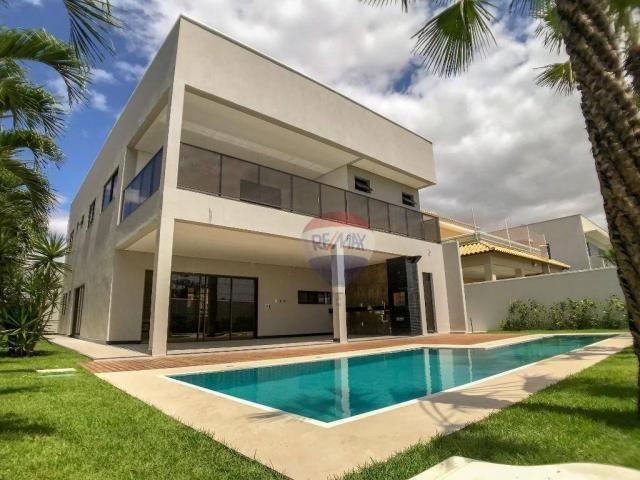 Casa com 4 dormitórios à venda, 360 m² por R$ 1.990.000 - Condomínio Alphaville Fortaleza  - Foto 2