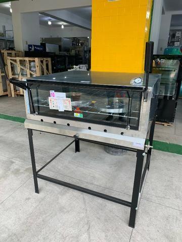 Forno com pedras refratárias tamanho 1,10x1,00m - ideal para pizzaria - casa de bolos - Foto 4
