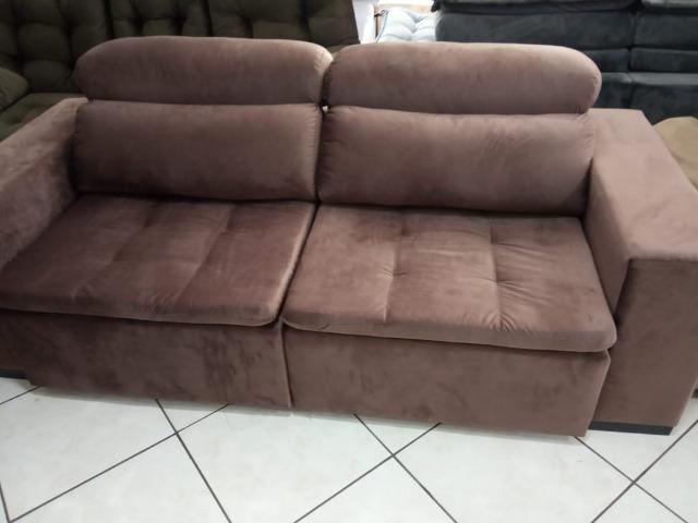Sofá retrátil e reclinável 2,20L - Foto 2