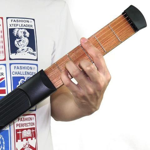 Violão De Bolso Pocket Guitar Portátil Treino