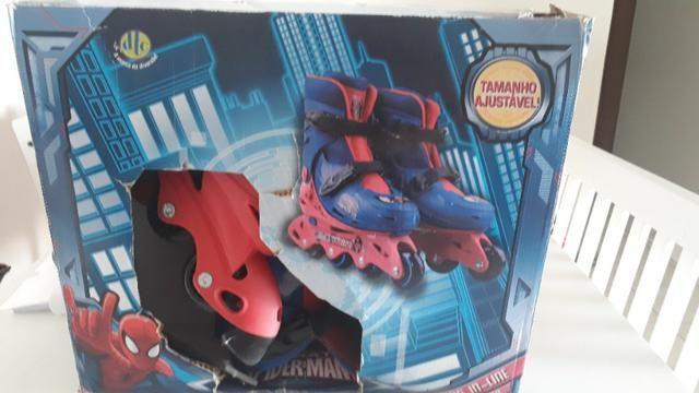 Patins Infantil DTC Marvel Homem Aranha Spider Man Tamanho 29-32 - Foto 3