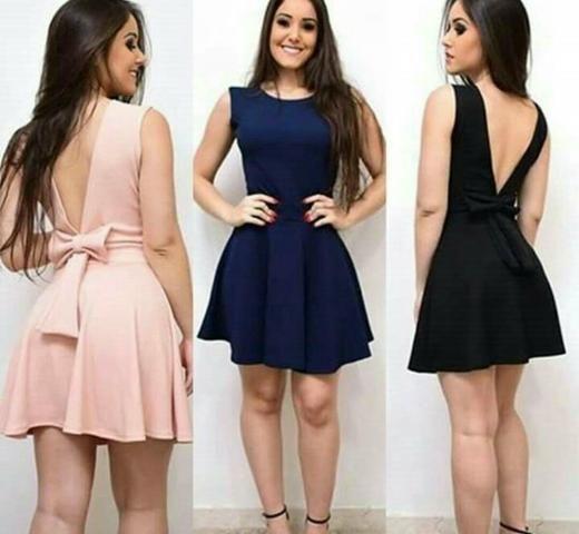 Vestido azul (tamanho único)