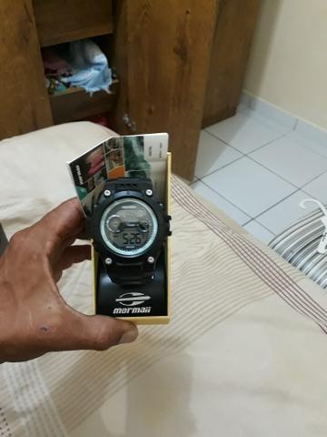 Relógio Mormaii na caixa pra trocar em corrente de prata - Foto 4