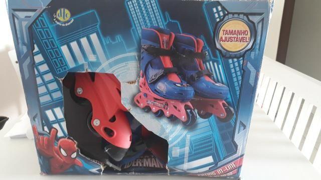 Patins Infantil DTC Marvel Homem Aranha Spider Man Tamanho 29-32 - Foto 6