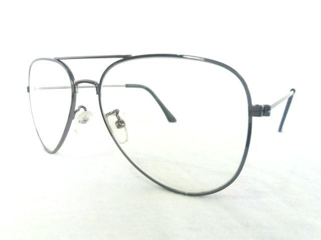 Armação para óculos de grau masculino feminino aviador novo ... d3ceaf7614