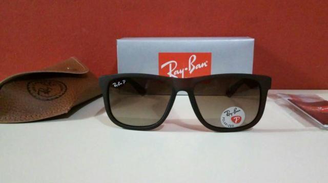 Óculos de sol Ray Ban Justin Marrom degradê Polarizado Novo na caixa Frete  grátis e37db2e0c4