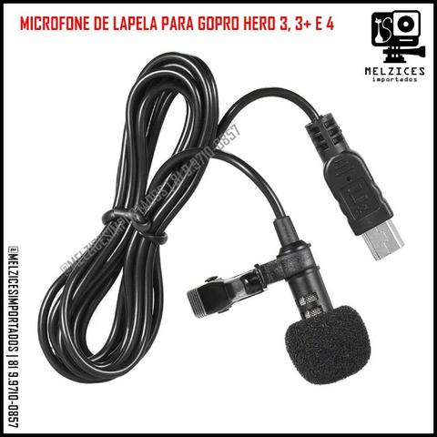 Microfone de Lapela para GoPro Hero 3 e 4 - Foto 2