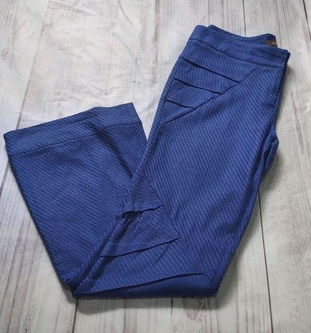 Calça Azul Encorpada
