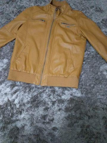 Jaqueta masculina de couro sintético marca TNG - Foto 2
