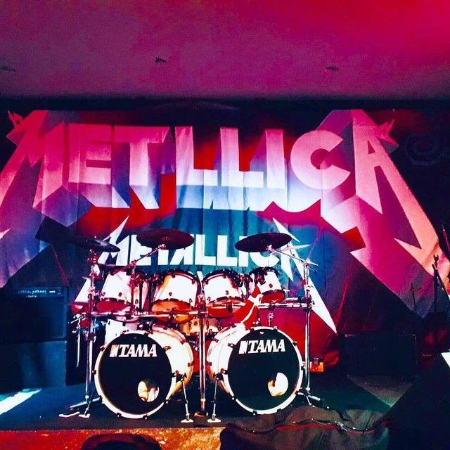 Bateria Dois Bumbos Metallica - Foto 4