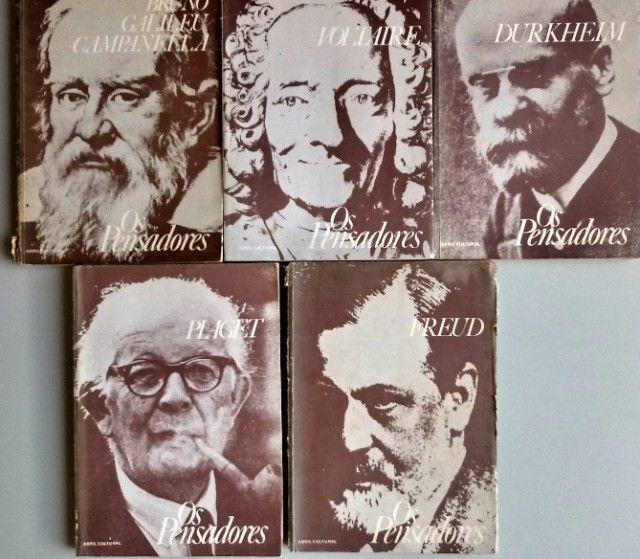 Coleção os Pensadores 1978 5 volumes - Relíquias