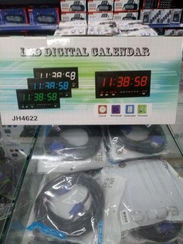 Relógio digital de parede 45cm pôr 21cm(entrega grátis para jp) - Foto 3