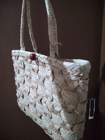 Bolsa de palha nova embalada - Foto 2