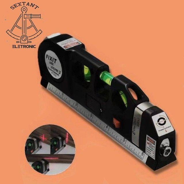 Nível a Laser Com Trena*Trena*Nível 3 estágio* - Foto 2