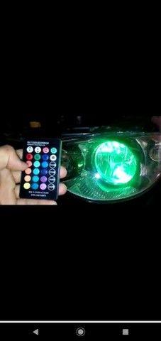 Farol lâmpadas led rgb para carros e motos com controle