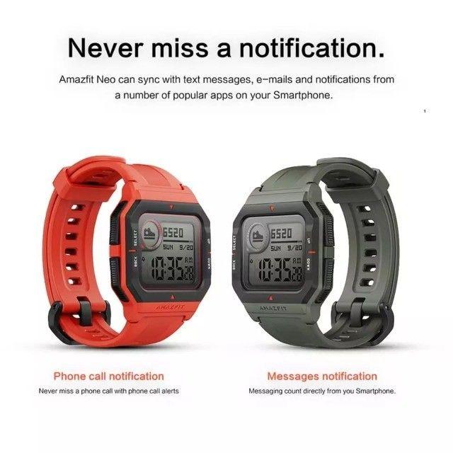 Amazfit Neo Smartwatch Xiaomi Retrô Versão Global Original Lacrado - Foto 5