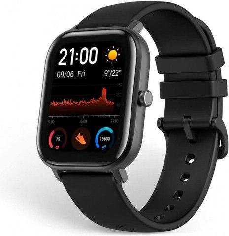 """Smartwatch Xiaomi Amazfit GTS A1914 de 1.65"""" com Bluetooth e GPS - Obsidian Black<br><br>"""