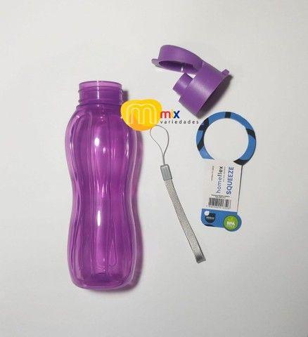 Garrafinha De Água 600 Ml Portátil Resistente Livre De Bpa - Foto 3
