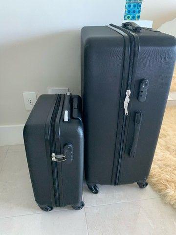 Jogo de malas Konos com um troley de cabine e uma mala grande. Usada somente uma vez. - Foto 2