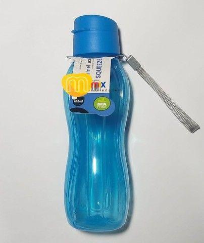 Garrafinha De Água 600 Ml Portátil Resistente Livre De Bpa - Foto 2