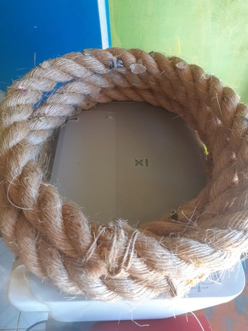 Corda em círculo, .homenagem para o dia do cirio. - Foto 3