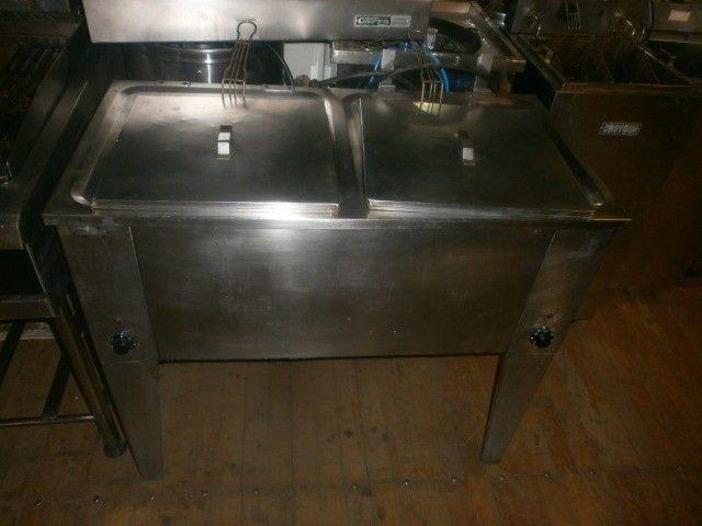 fritadeira industrial - agua e óleo - dupla - 220 volts - inox - Foto 2