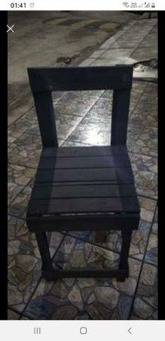 Lote de cadeiras de pallet - Foto 2