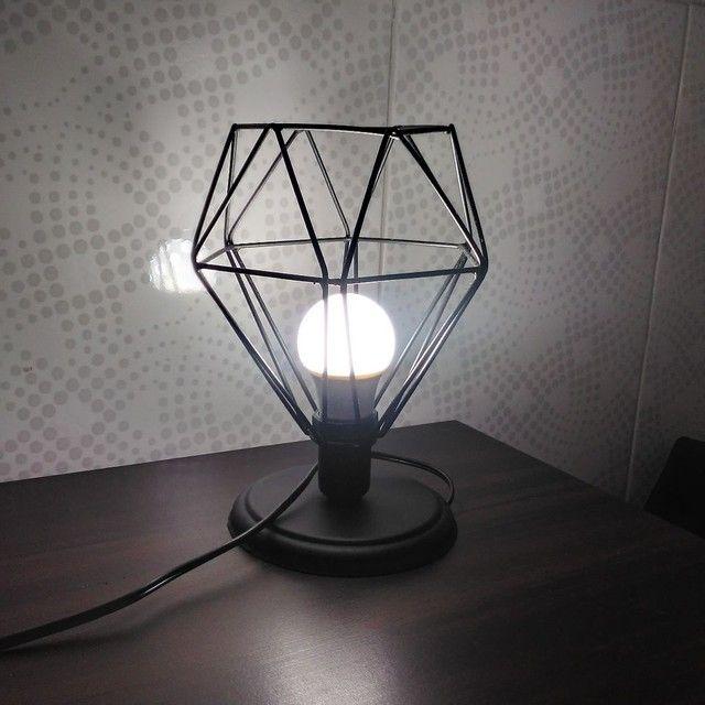 Luminária de mesa - diamante preto  - Foto 3