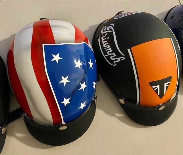 Lindos capacetes Scooter elétrica / bike elétrica / harley elétrica  - Foto 3
