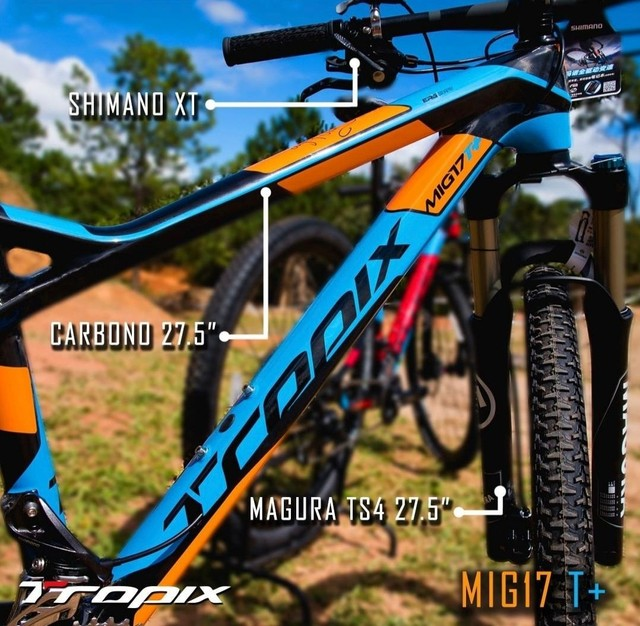 Specialized,  cannondale,  Trek ,  Tropix Mig 17 carbono,  XT 11v - Foto 2