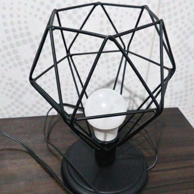 Luminária de mesa - diamante preto  - Foto 2