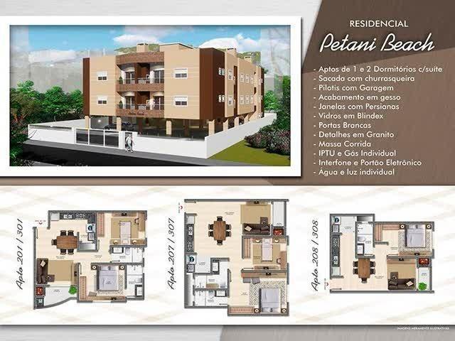 Apartamentos novos de 1 e 2 dormitórios a partir de 120 mil